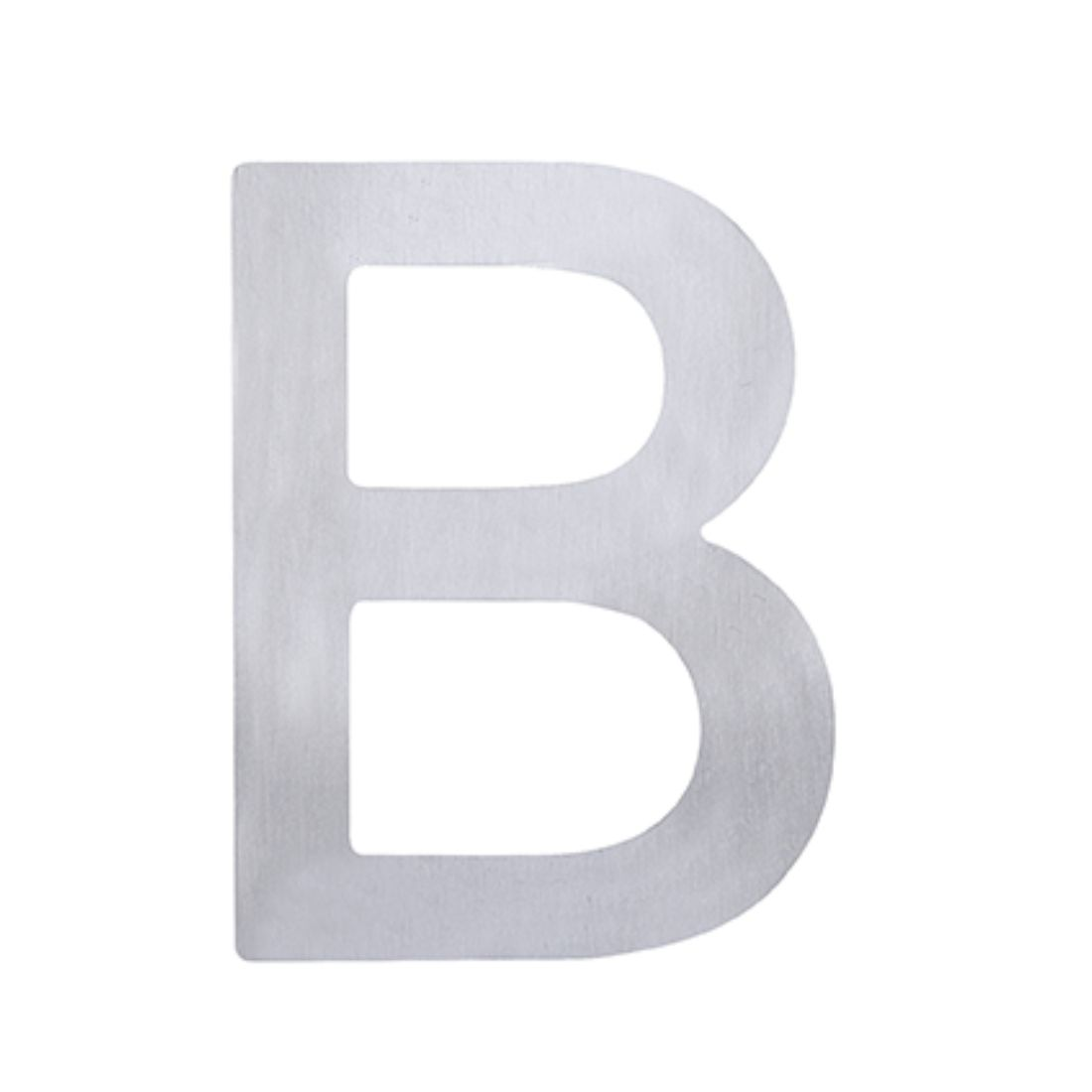 Adhesive Letter B Stainless Steel 75mm 5371-B-SS