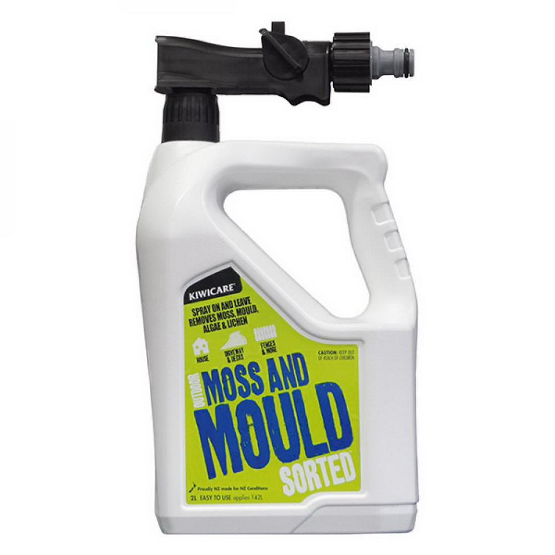 Sorted 2L Ready to Spray Moss & Mould Exterior Cleaner Hose Pack