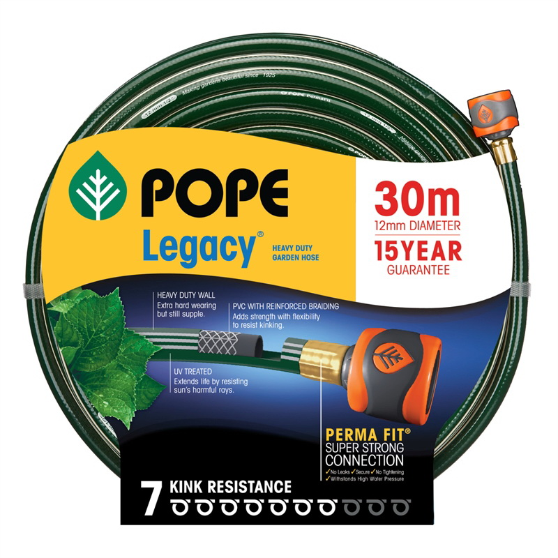 Legacy Tap Ready Fitted Garden Hose 12mm Diameter x 30m