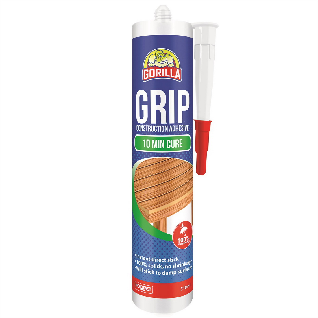 Grip 310mL 10minute Cure Construction Adhesive Translucent