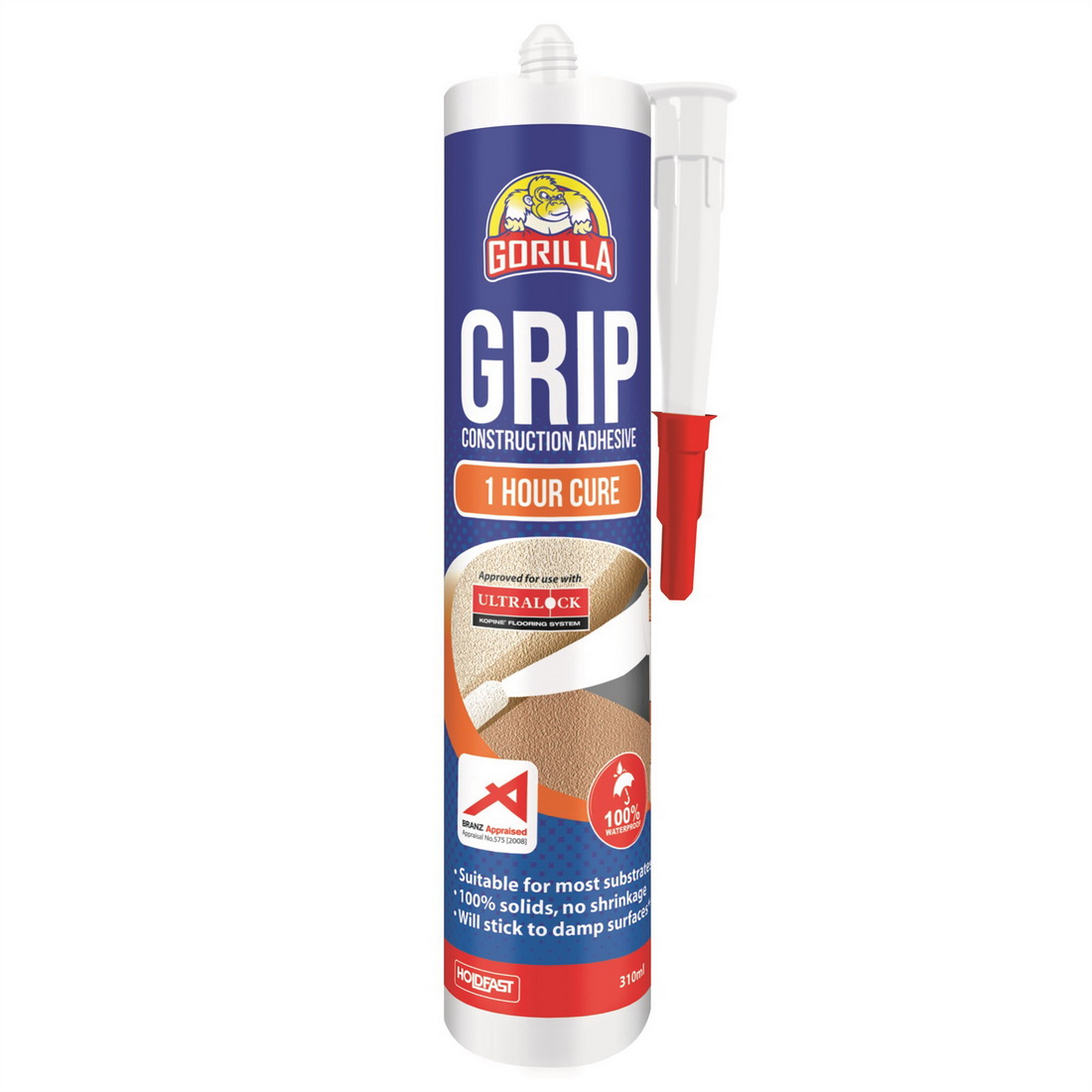 Grip 310mL 1 Hour Cure Construction Adhesive Translucent