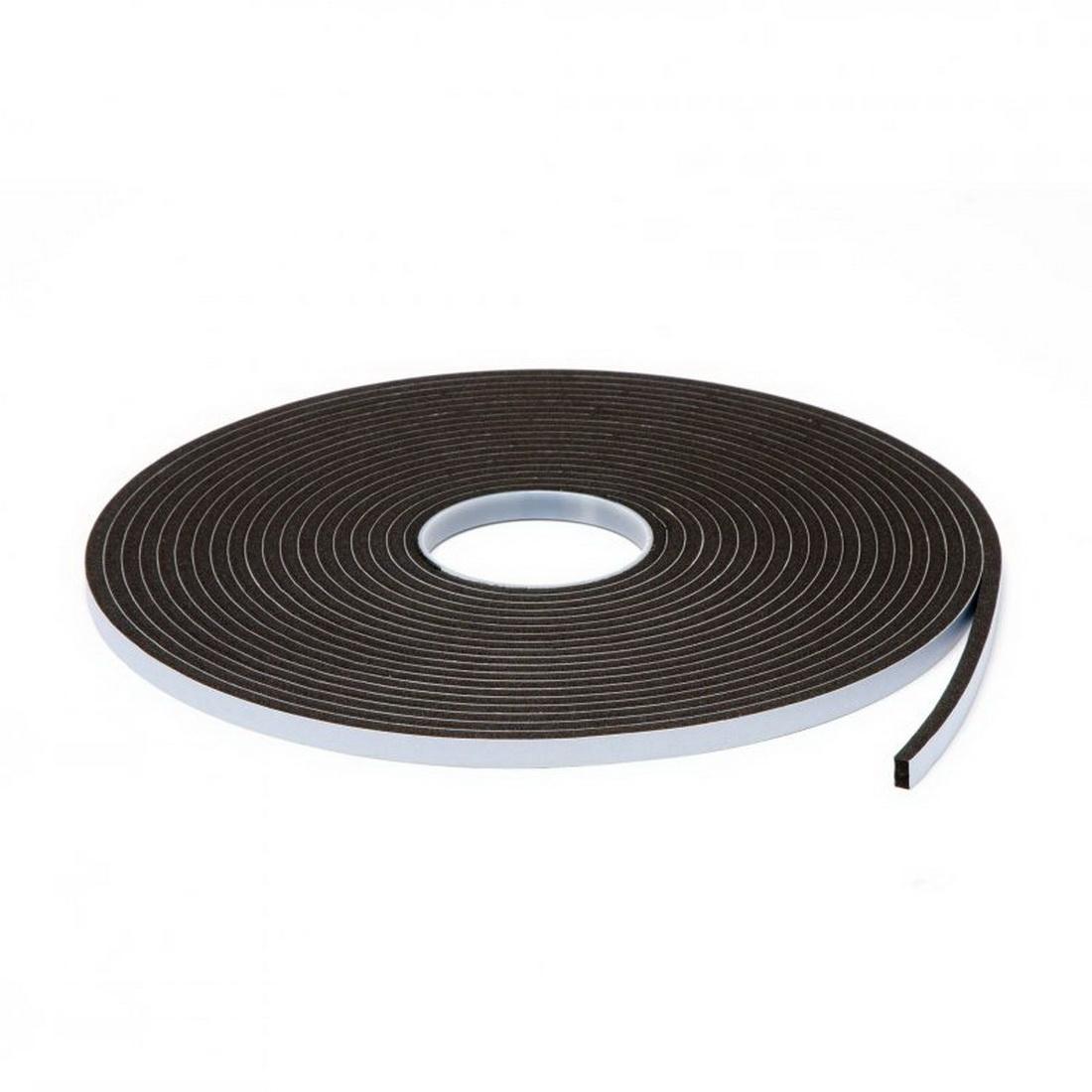 Inseal Single Sided Foam Tape 6mm x 10mm x 12m Black