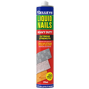 Liquid Nails 375mL Heavy Duty Multipurpose Construction Adhesive Twin Pack