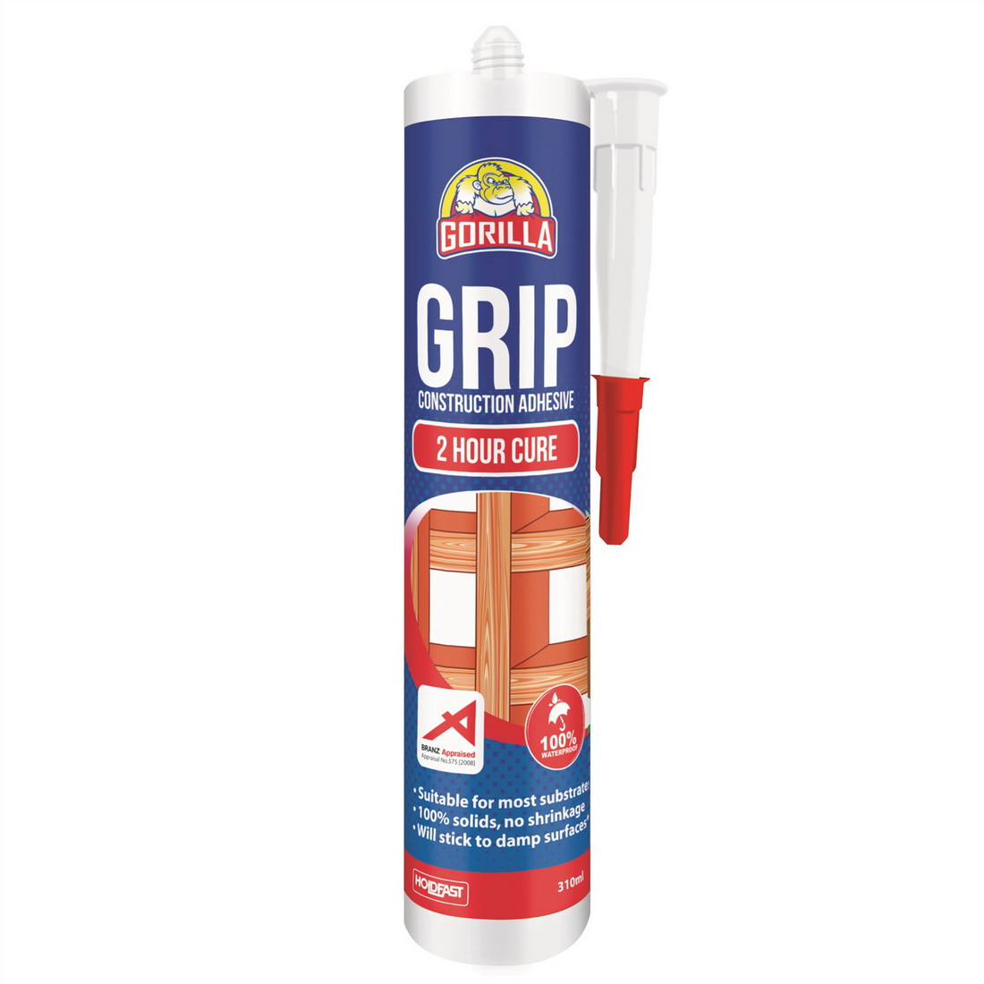 Grip 310mL 2 Hour Cure Construction Adhesive Translucent