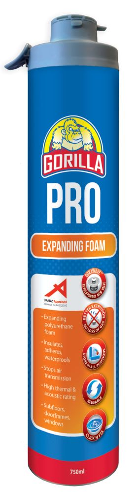 Pro 750mL Click and Fix Expanding Foam Champagne