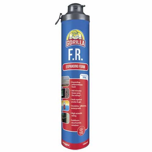 750ml Click & Fix Fire Rated Expanding Foam Light Red