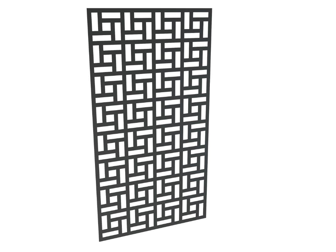 3mm Decorative Aluminium Panel Pave 1850 x 1000mm Charcoal