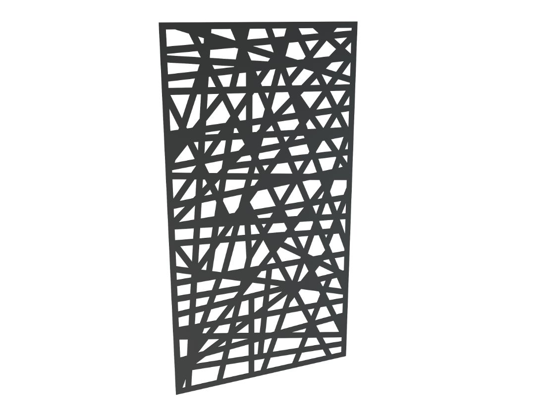 3mm Decorative Aluminium Panel Chaos 1850 x 1000mm Charcoal