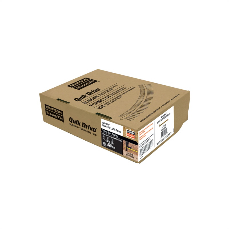 Quik Drive WSC Series Timber Screw 10G x 50mm 305 Stainless Steel 2000 box