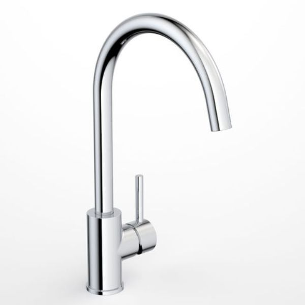 Blaze Pin Gooseneck Laundry Mixer Chrome