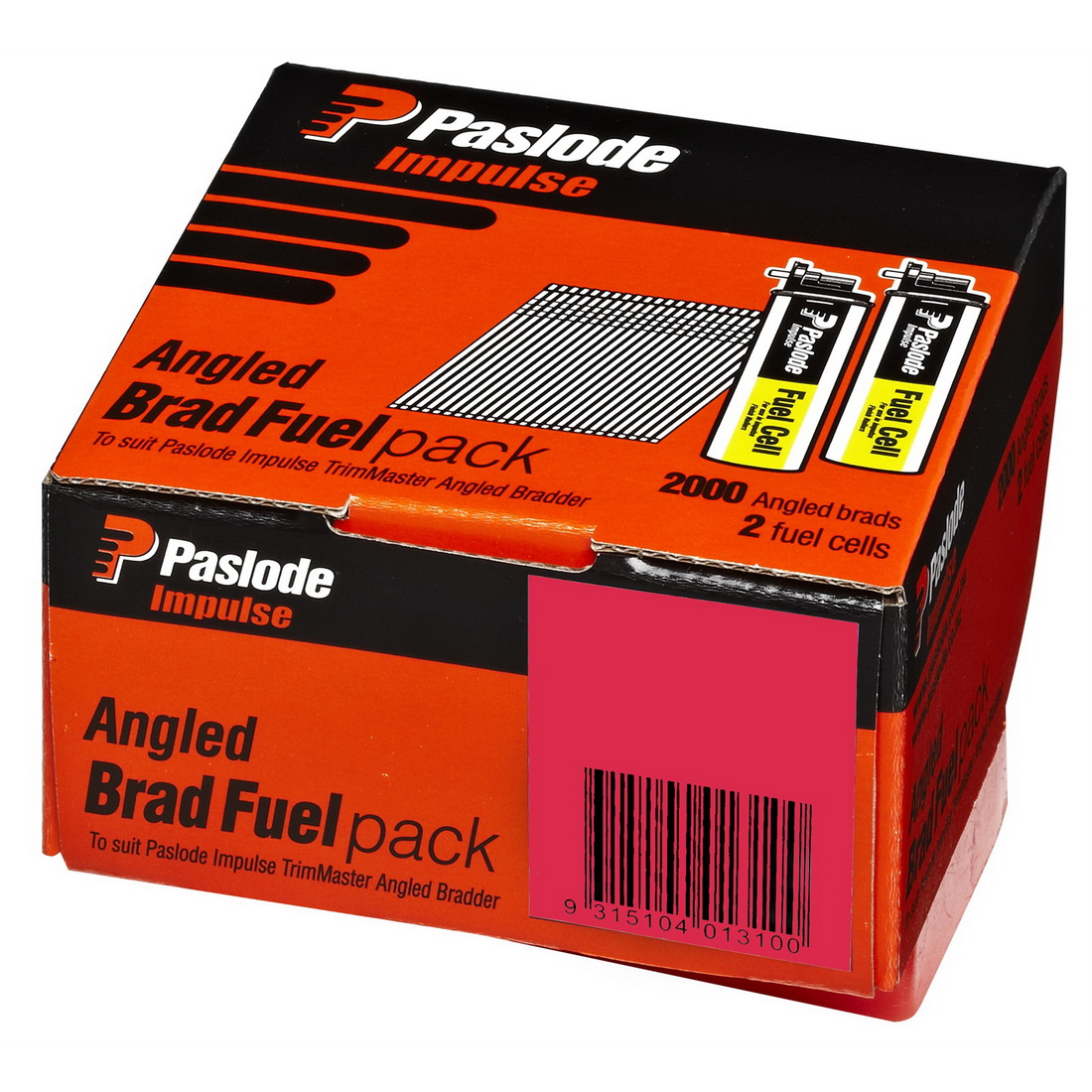 Impulse Angled Brad with 2 Fuel Cell 16G 1.6 x 50mm Stainless Steel 2000 pack