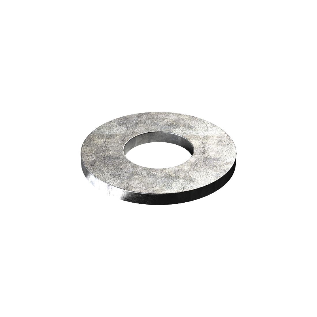 Flat Round Washer M12 x 28 x 3mm Mild Steel Galvanised WFRMG122836