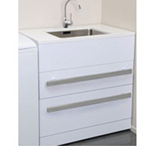 Composite Top 2 Drawer Laundry Tub Oblio Mixer