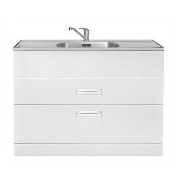 HubTub 1200 2 Drawer Stainless Steel Laundry Tub