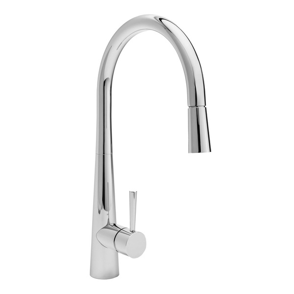 Veggie Gooseneck Sink Mixer 231mm Copper Chrome