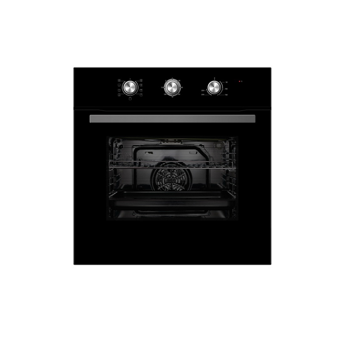 5 Function Built-In Manual Wall Oven 60cm 65L Black 65DME40004-BK