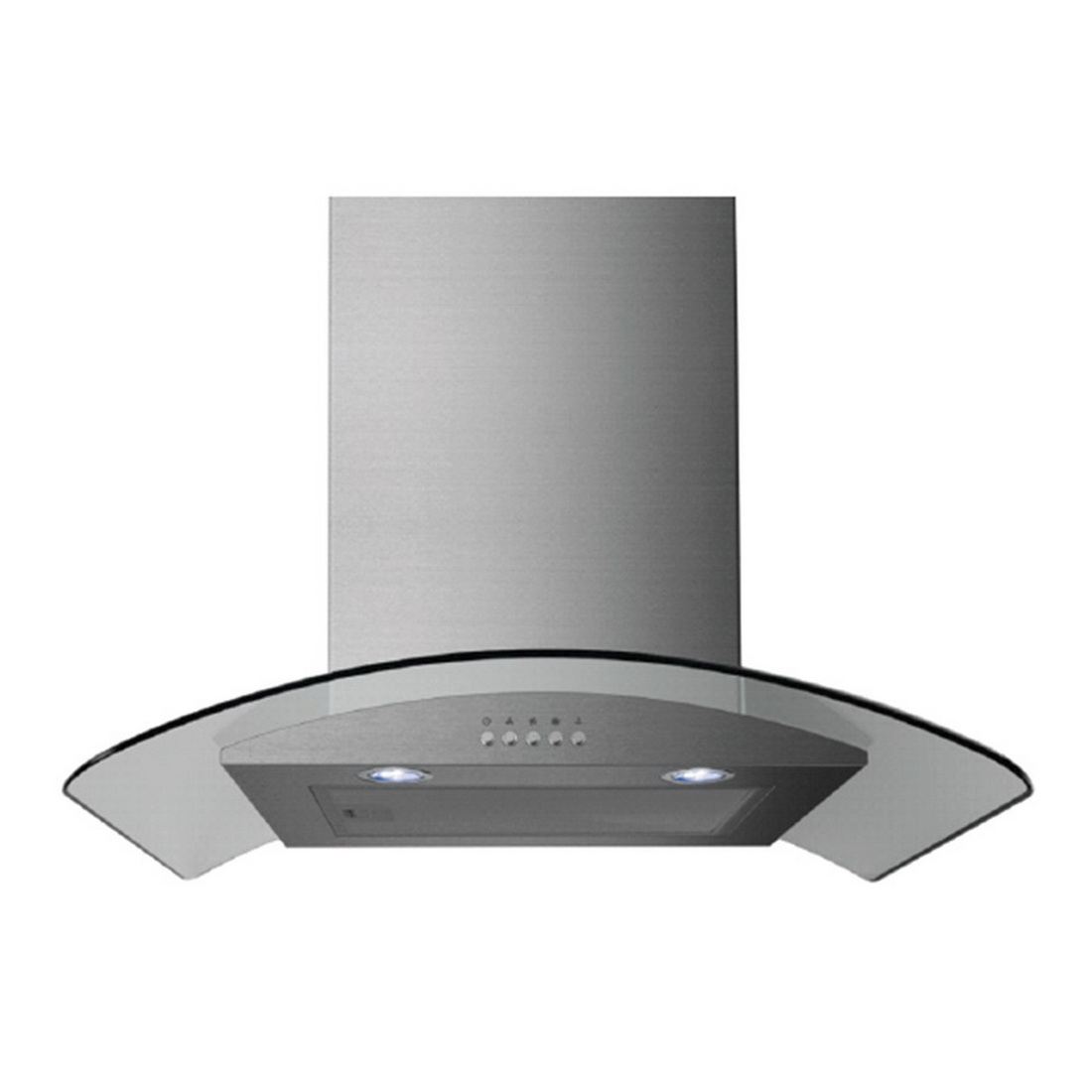 Curved Glass Range Hood 60cm 800 cu-m/hr Stainless Steel E60MEW2V71