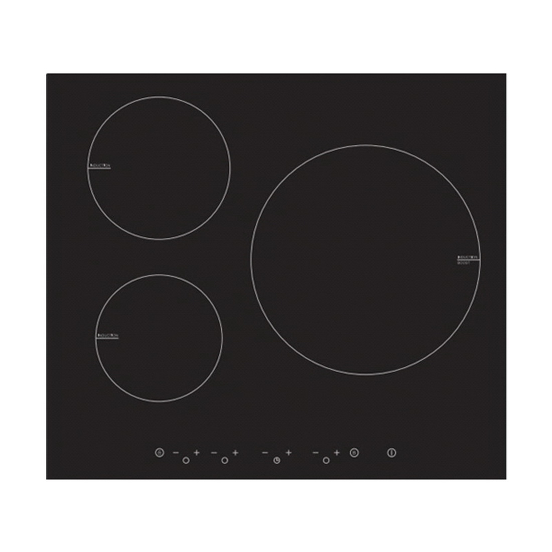 Touch Control Induction Cooktop 60cm Black MC-IT6516B2-A