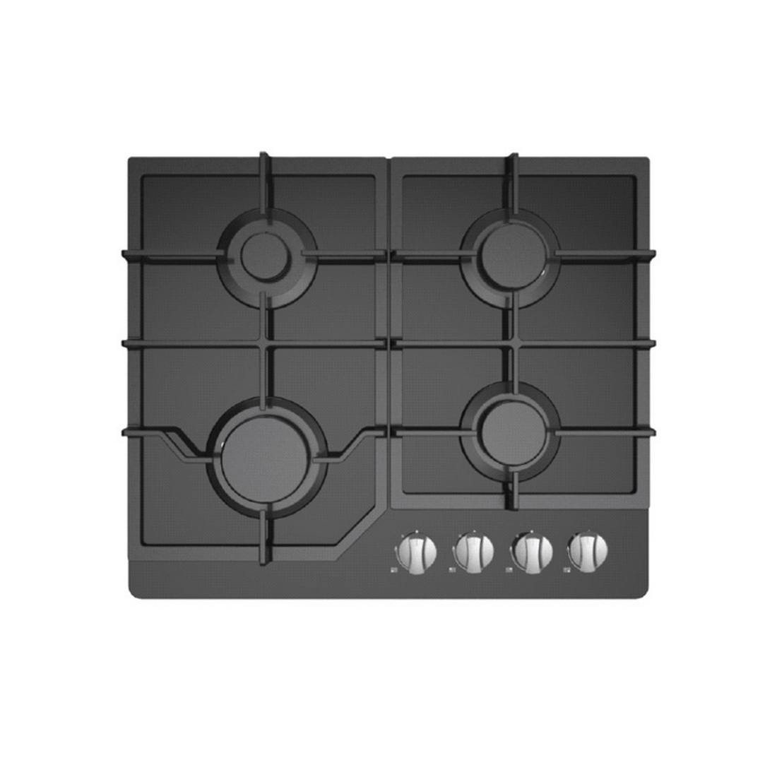 Gas Cooktop with Wok Hob 60cm Black Glass 60G40ME084-GFT