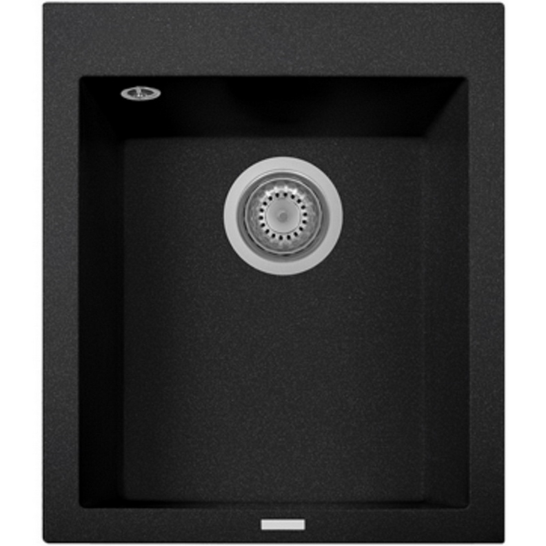 Oliveri Telma Granite Single Sink Bowl 500 x 410 mm Black Topmount/Undermount ON4110-BLACK