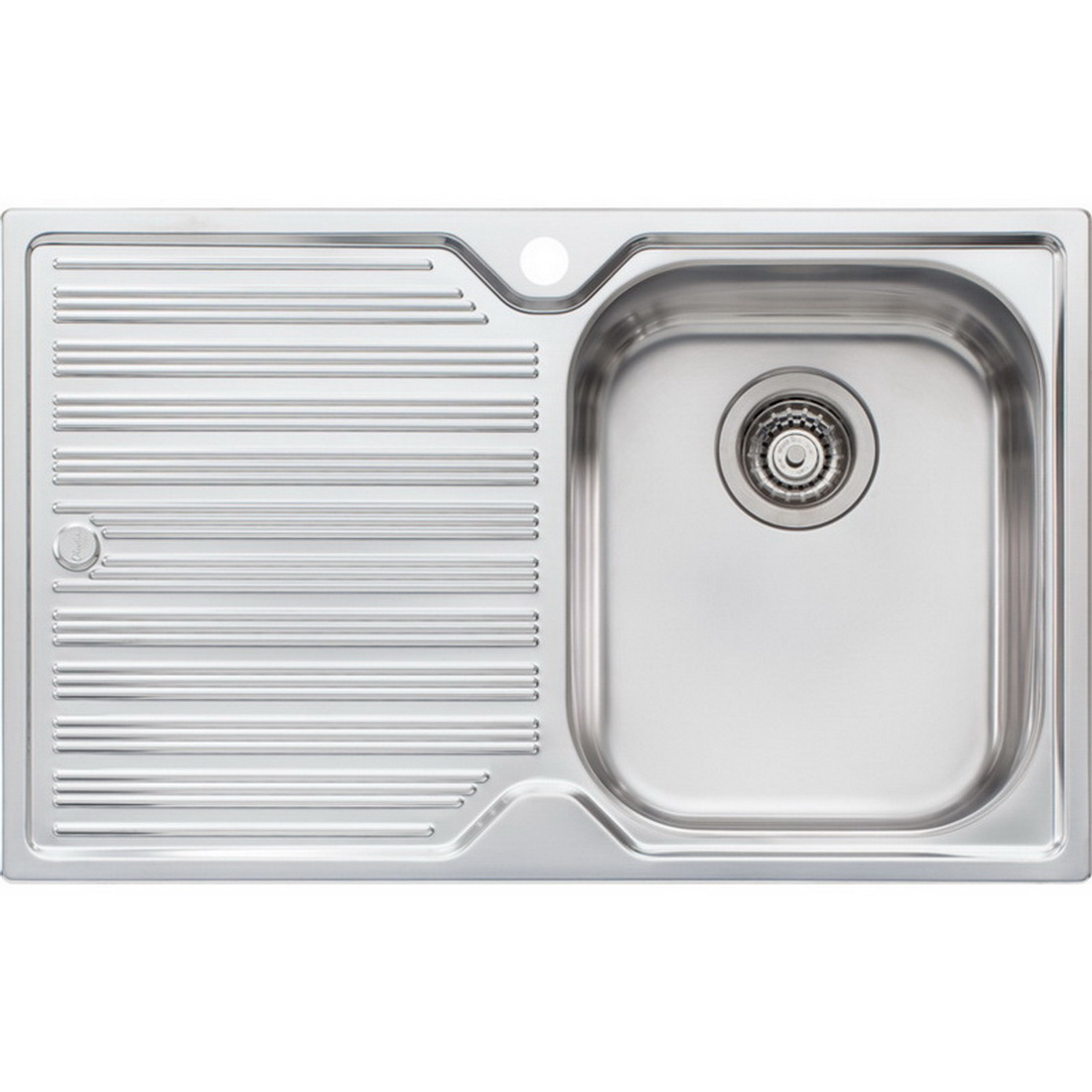 Diaz Single Sink Bowl with Drainer RHB 180 x 770 x 480 mm Topmount DZ122 NZ NTH OF