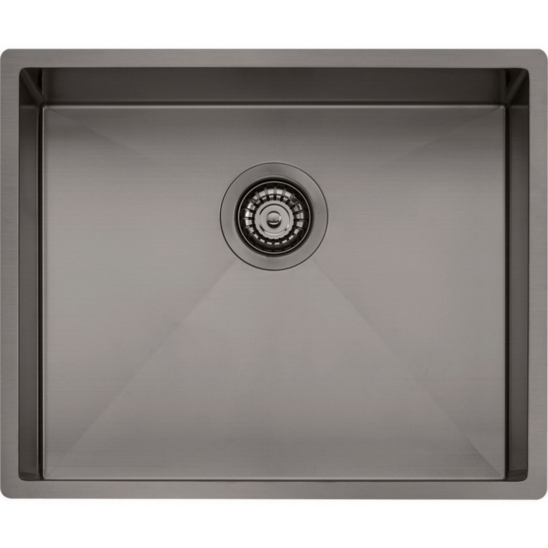Spectra Single Sink Bowl 445 x 540 mm Gun Metal Topmount/Undermount/Flushmount SB50GM