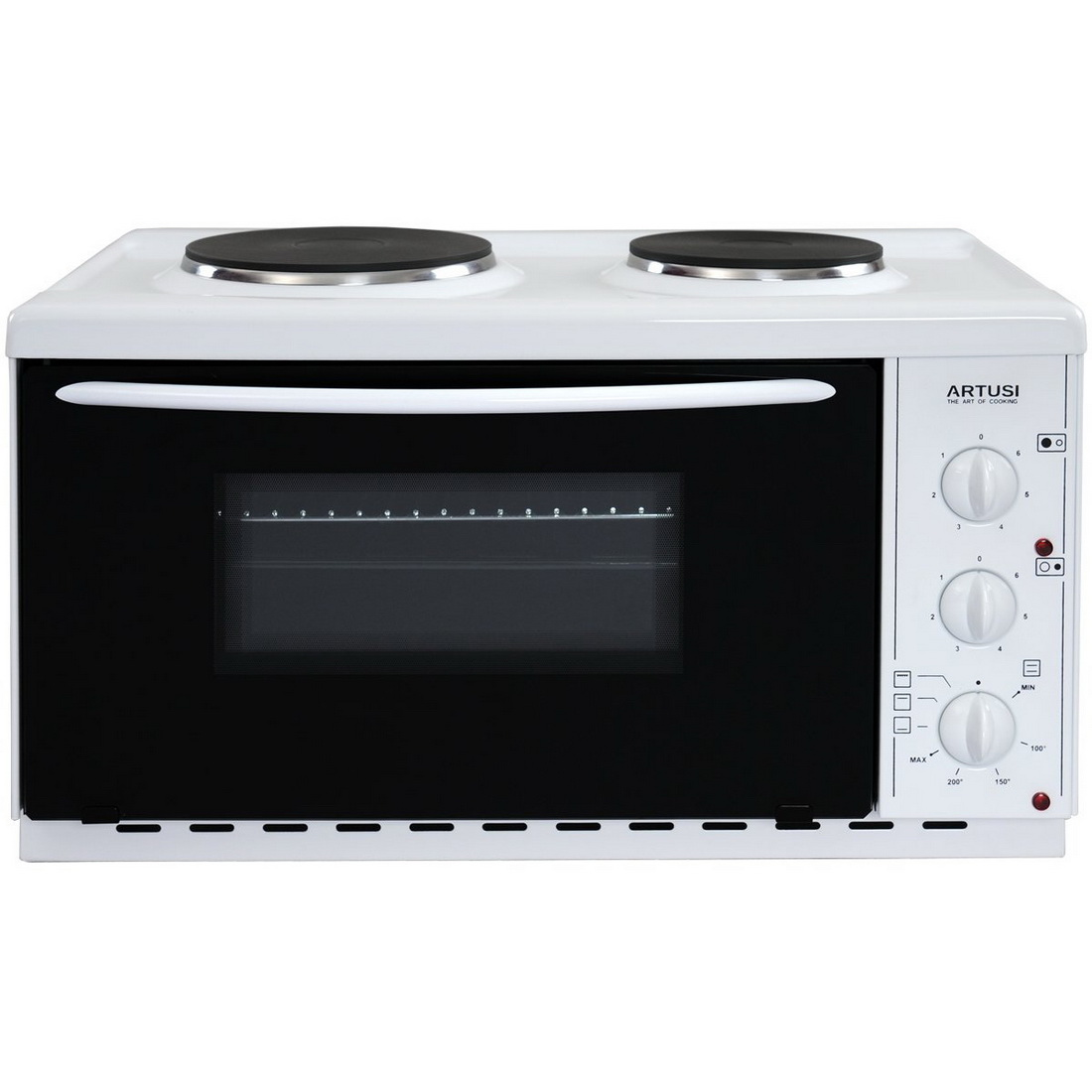 2 Hot Plates Plus Electric Microwave Oven 22L White AOMK1