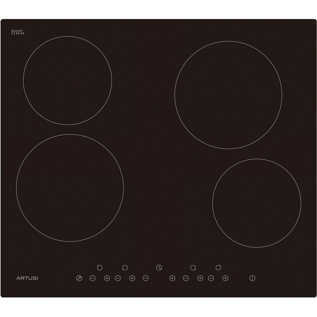 4 Plate Ceramic Electric Hob 60cm CACC60