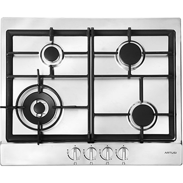 4 Burner Gas Cooktop With Flame Failure Device Stainless Steel AGH65X