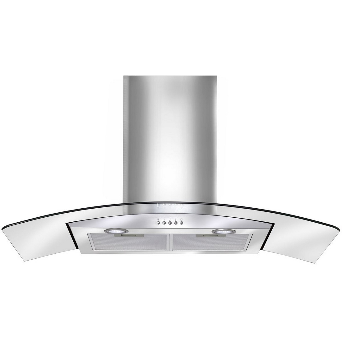 Canopy Wall Mount Rangehood With Glass 90cm Stainless Steel ACG900X