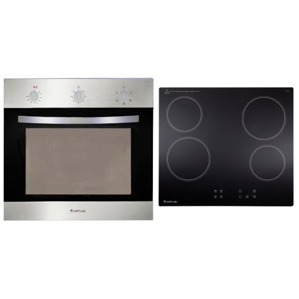 Oven & Ceramic Hob Appliance Pack Stainless Steel ARTBET3