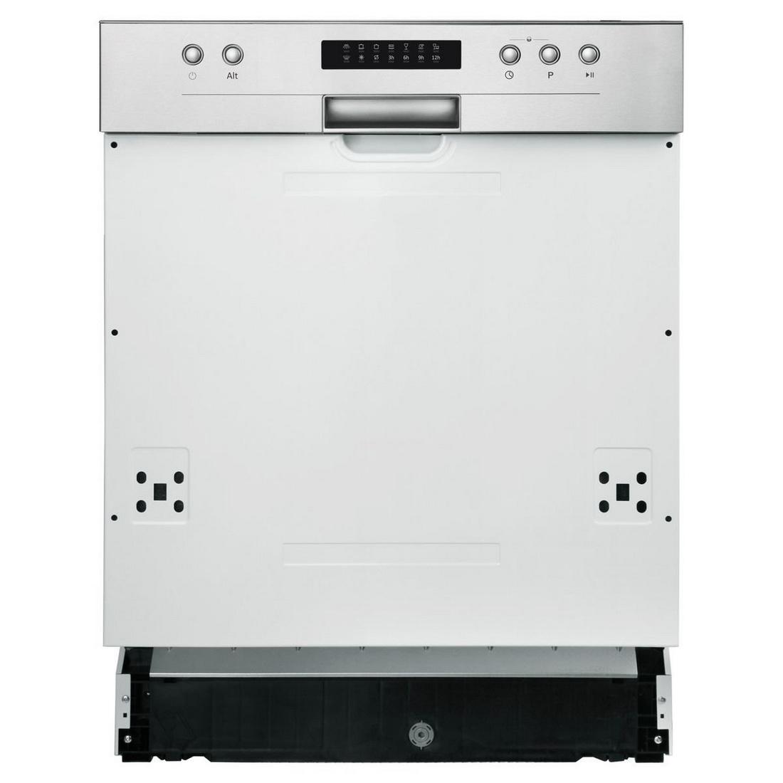 Semi Integrated Dishwasher 12 Place Settings 6 Wash Programs ADWSI601X