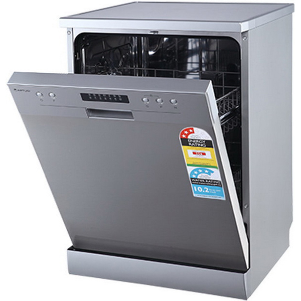 Freestanding Dishwasher 12 Place Settings 6 Wash Programs Stainless Steel ADW5001X
