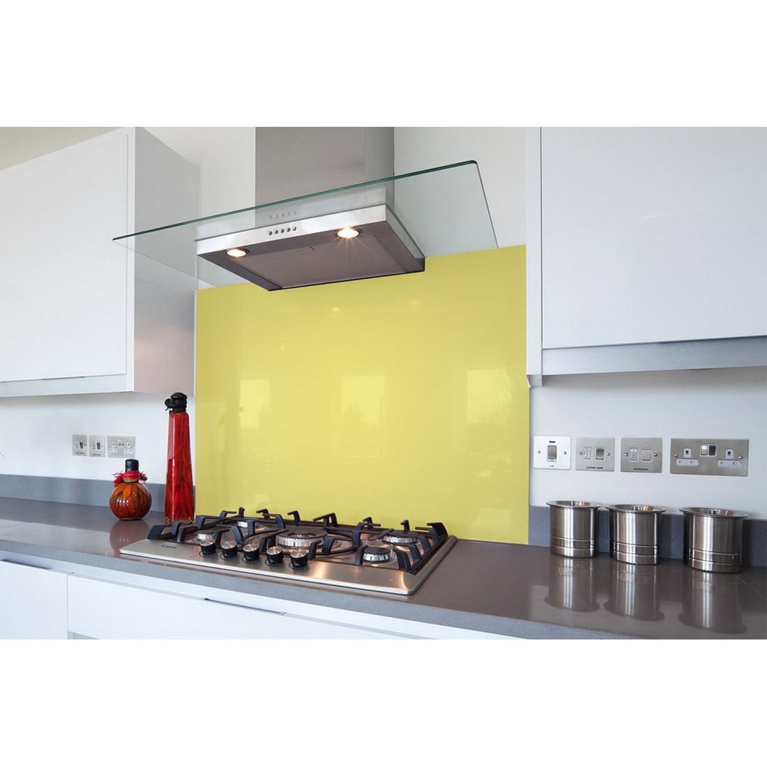 Splashback 900 x 750 mm Glass Silver 9X75SPLASHMS