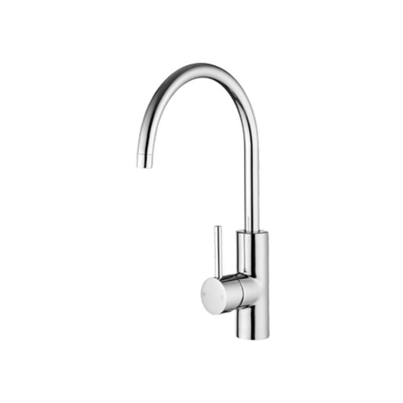Echo Minimalist Sink Mixer Gooseneck Spout 201mm Chrome