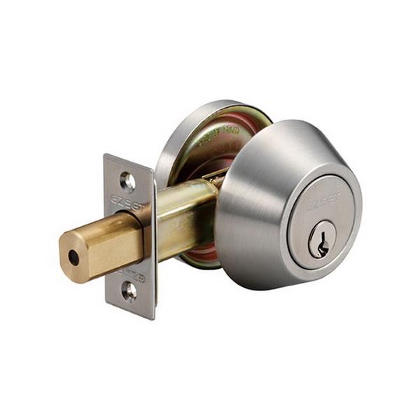 200B Single Cylinder Deadbolt Lock Satin Stainless Steel
