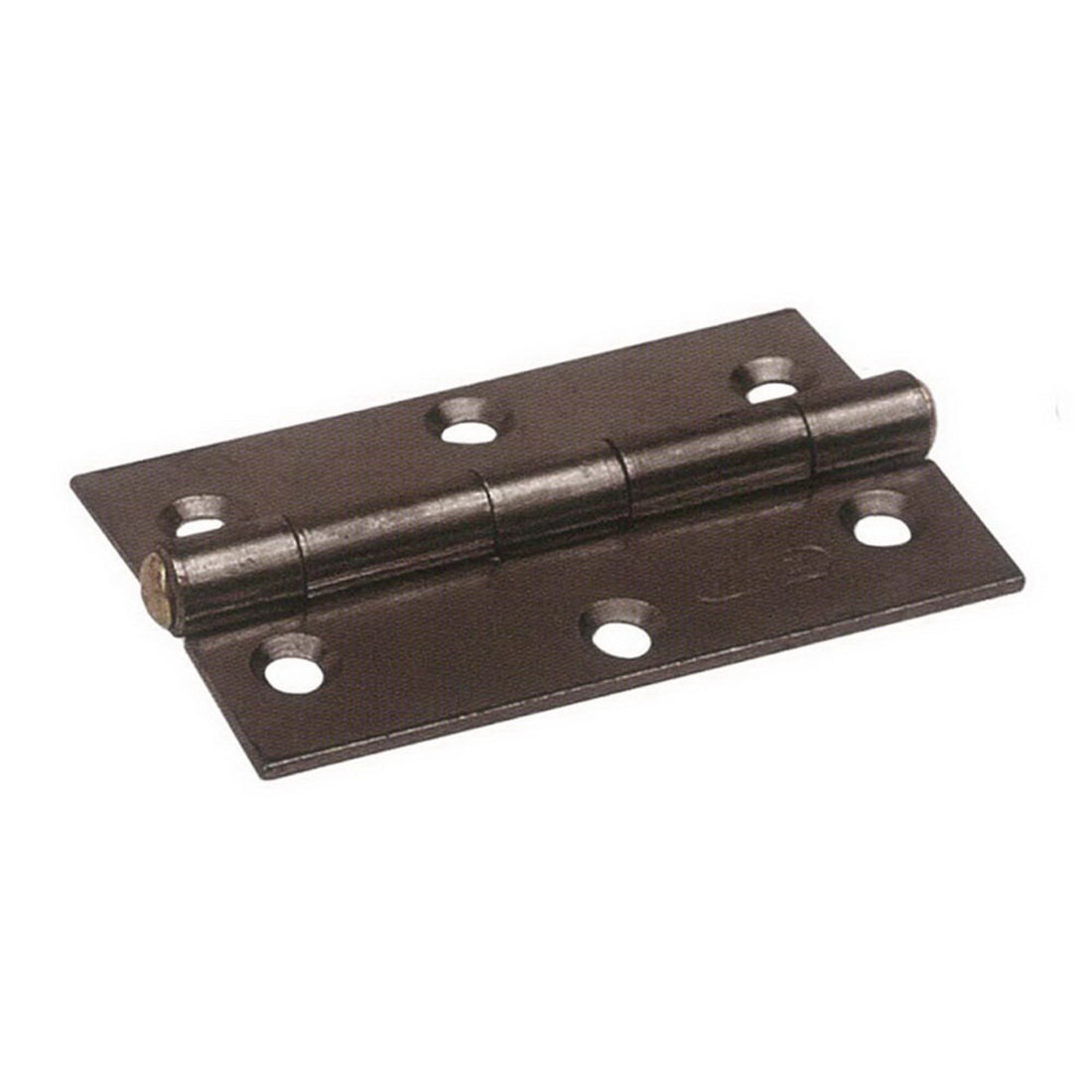 75 x 100mm Fixed Pin Narrow Butt Hinge Florentine Bronze