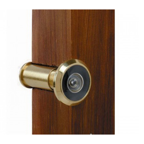Wide Angle Door Viewer Polished Brass