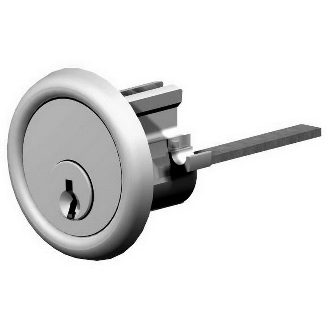 Assa Abloy  Night Latch Replacement 6-Pin Rim Cylinder Satin Chrome MC17SC