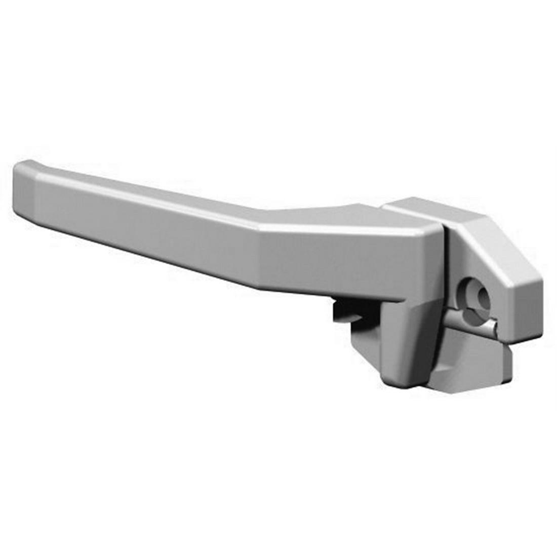 Securicraft Left Hand High Profile - Face Fix Wedgeless Window Handle 93mm Aluminum Frame Black MC331B