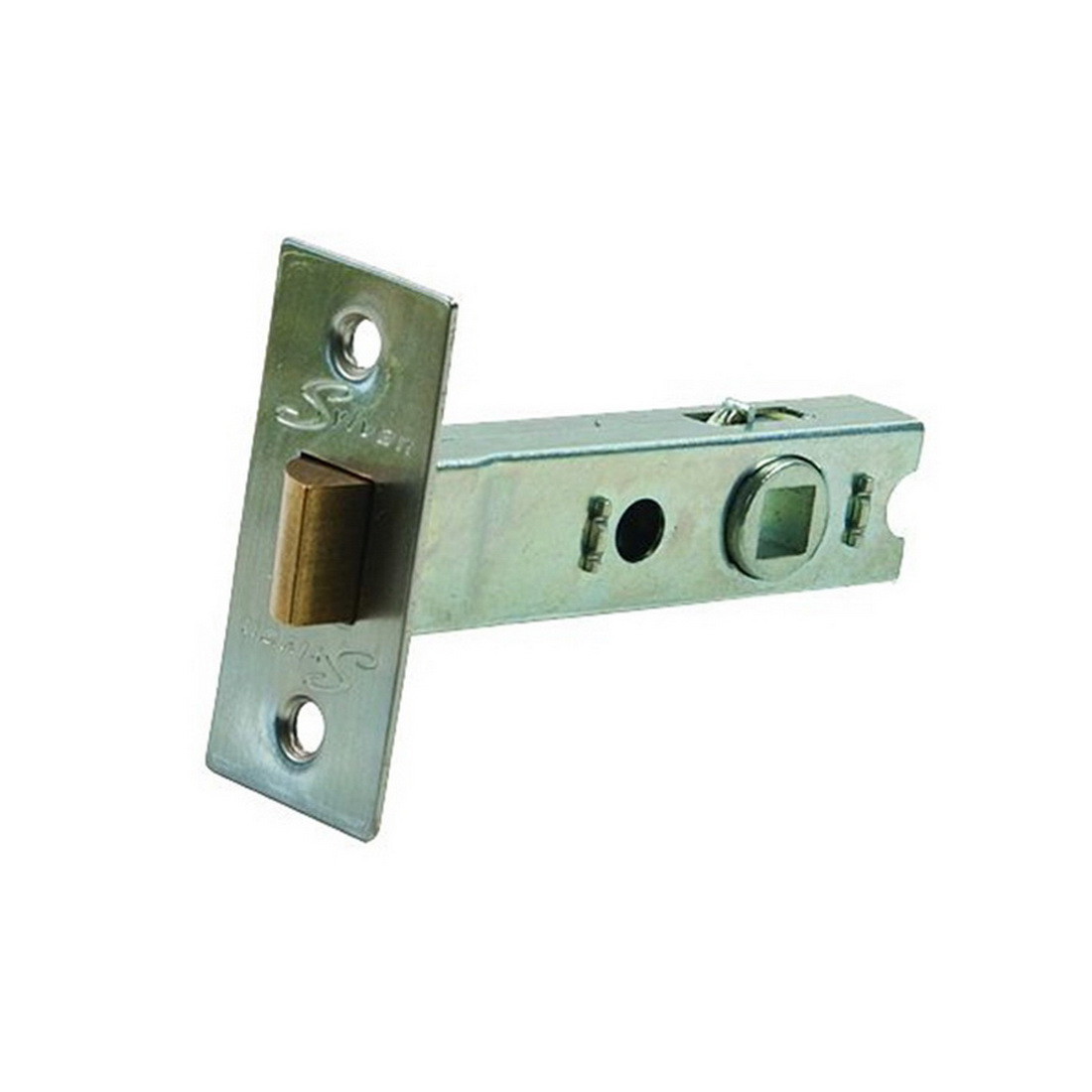 Tubular Mortice Latch 60mm 7.6 x 7.6mm Spindle Satin Nickel Plate MLS60.SNP