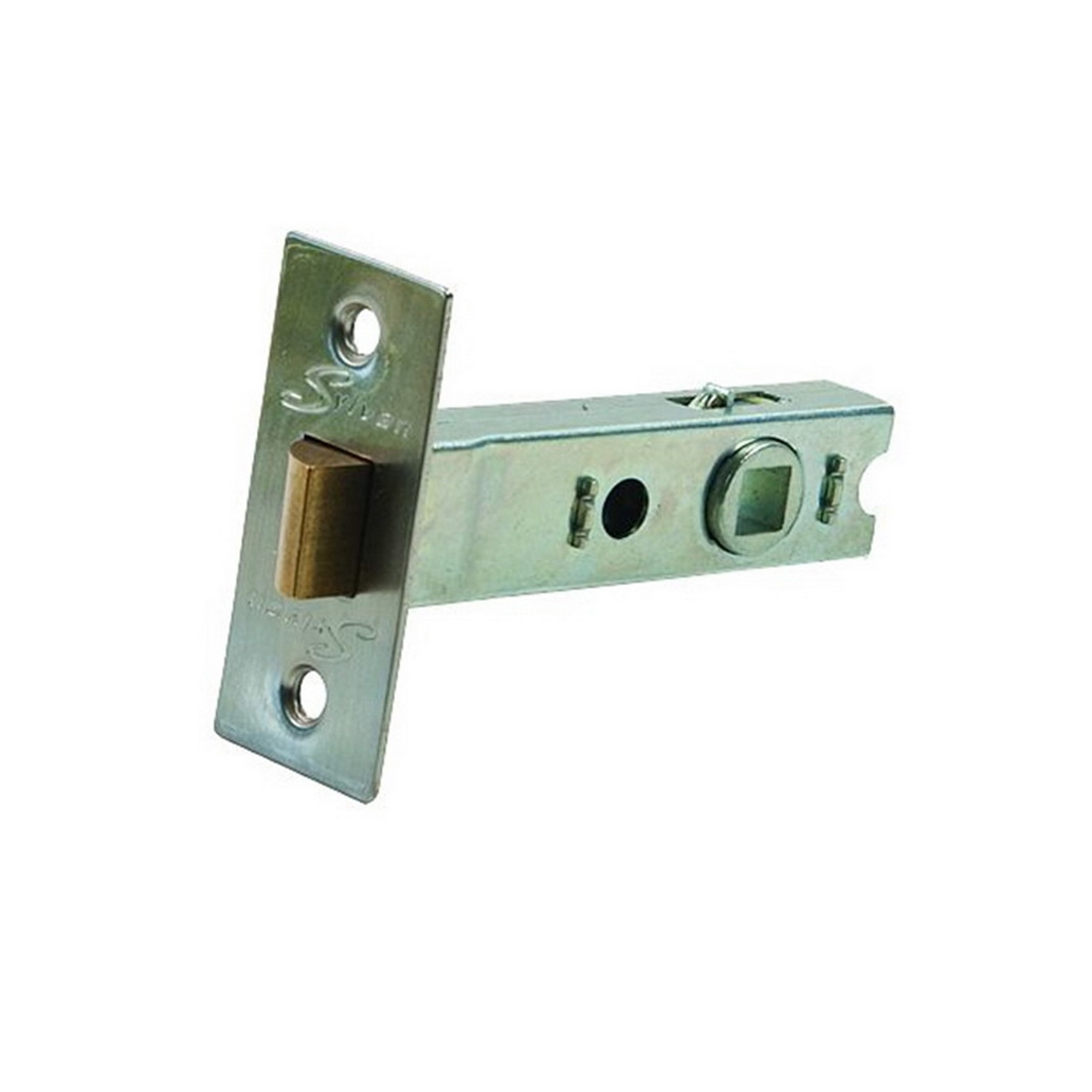 Tubular Mortice Latch 70mm 7.6 x 7.6mm Spindle Satin Nickel Plate MLS70.SNP