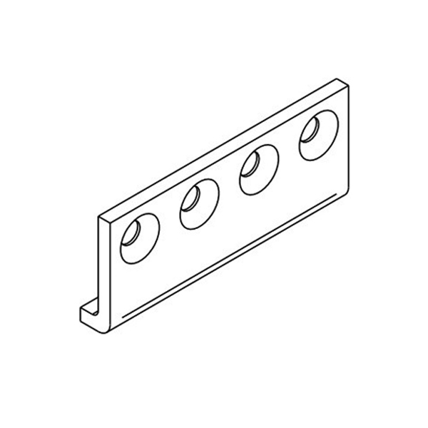 Open Bar Rail Timber 80 Joining Bracket Mild Steel Powder Coat Black SFH80B-JBPB
