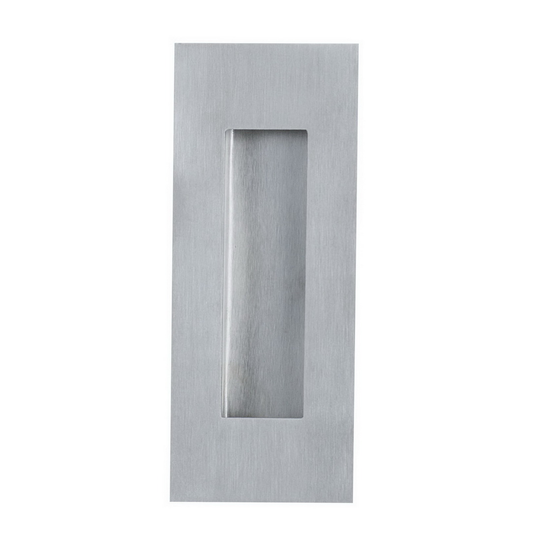 Rectangular Conceled Fix Flush Pull 120 x 40 x 12mm Brushed Stainless Steel 981120SS