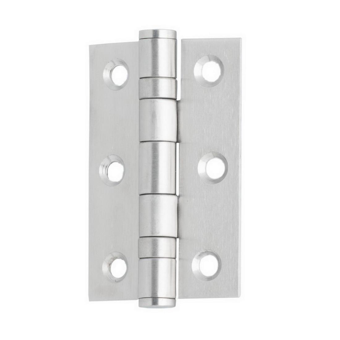 Square Edge Door Hinge 75 x 50 x 2mm 316SS