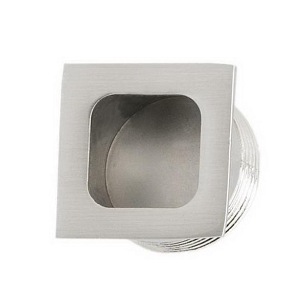 Square Flush Finger Pull 26mm Stainless Steel 748SS26