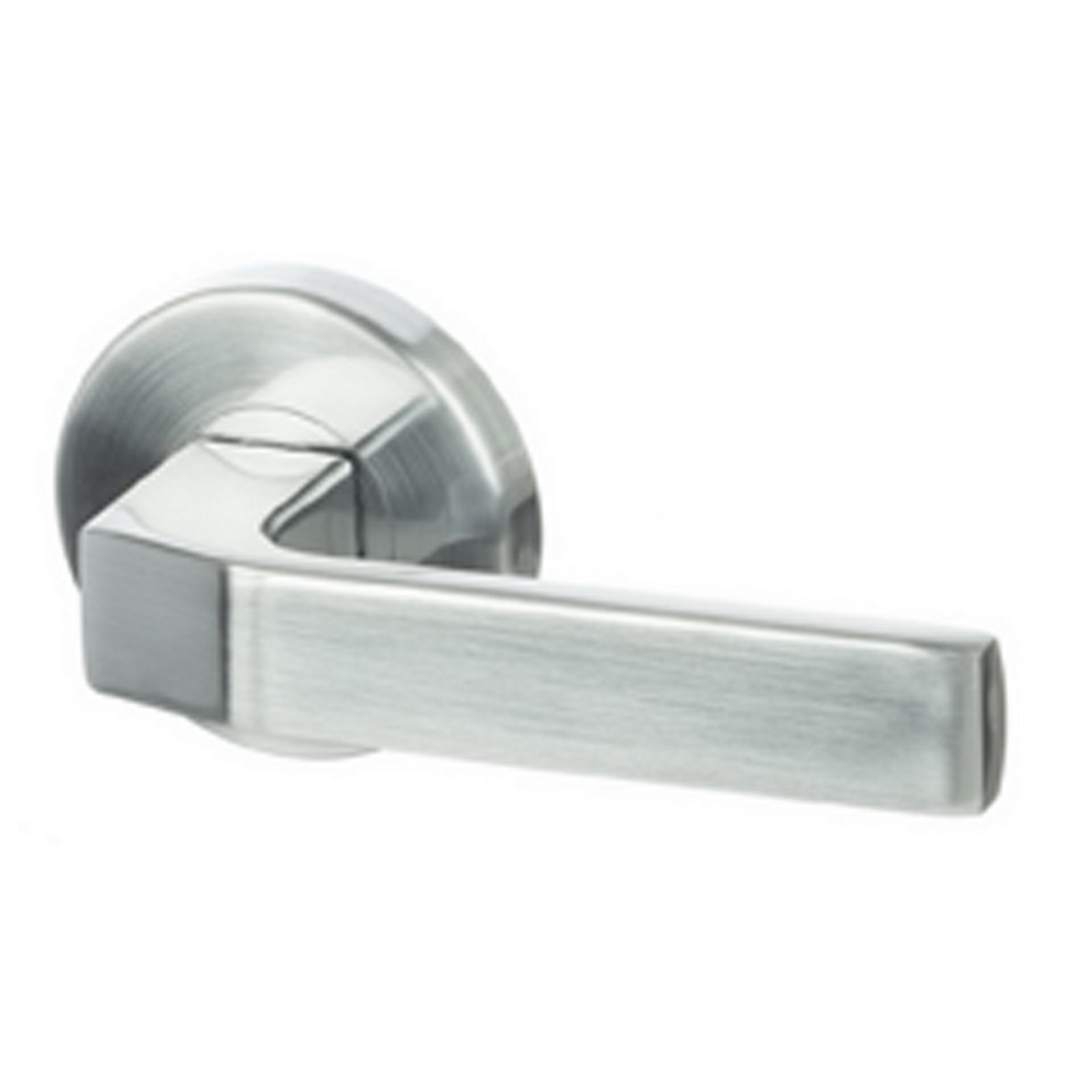 S Range Sienna Lever Handle Passage Set Brushed Satin Chrome
