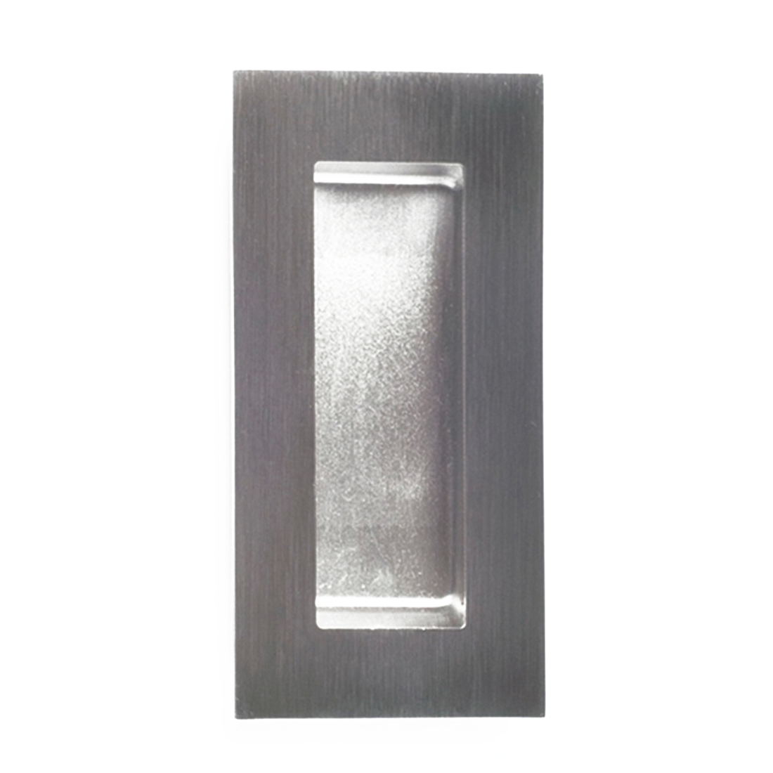 Square Edge Concealed Fix Flush Pull 102 x 52 x 10mm Brushed Stainless Steel 733SS