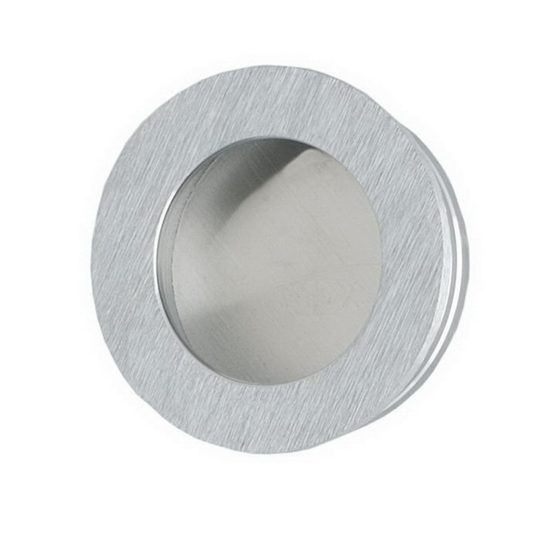 Round Flush Finger Pull 30mm Satin Chrome 744SC30