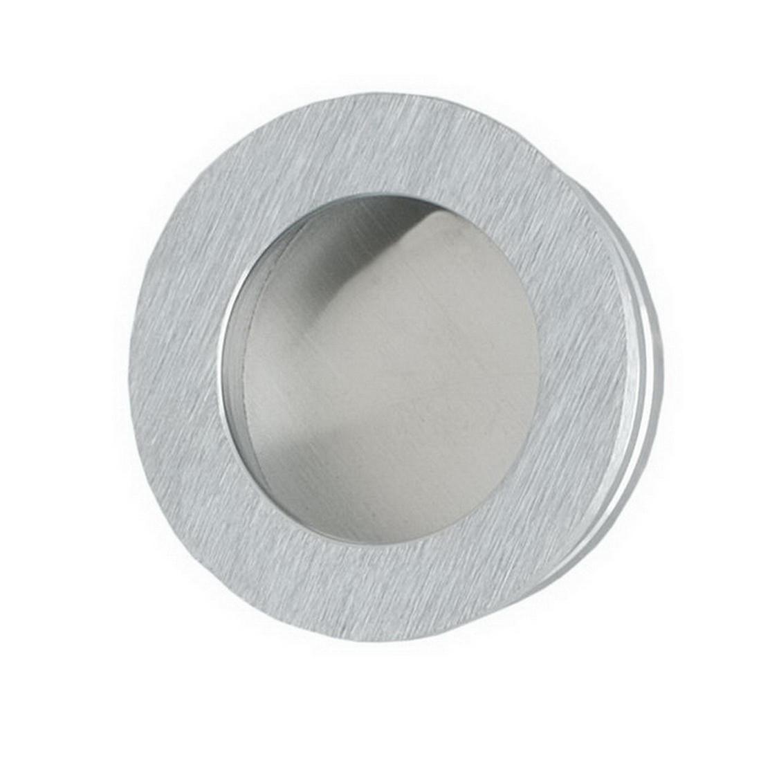 Round Flush Finger Pull 40mm Satin Chrome 744SC40